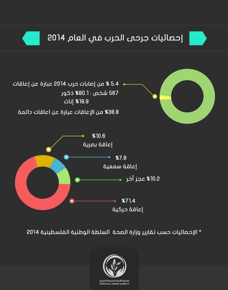 انفوجرافيك لجرحى 2014